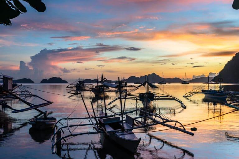 sunset conrong corong bangka